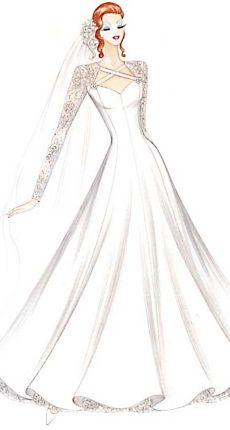 Эскизы платьев