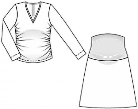 Сшить юбку для беременных своими руками выкройка