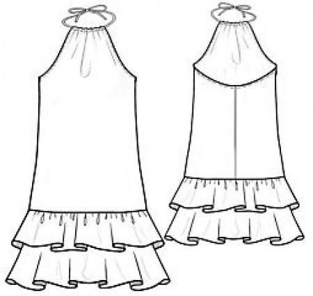 Фото выкройки детского платья с открытой спиной. платье с открытой спиной фото